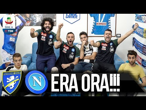 ERA ORA!!! FROSINONE 0-2 NAPOLI | LIVE REACTION NAPOLETANI HD