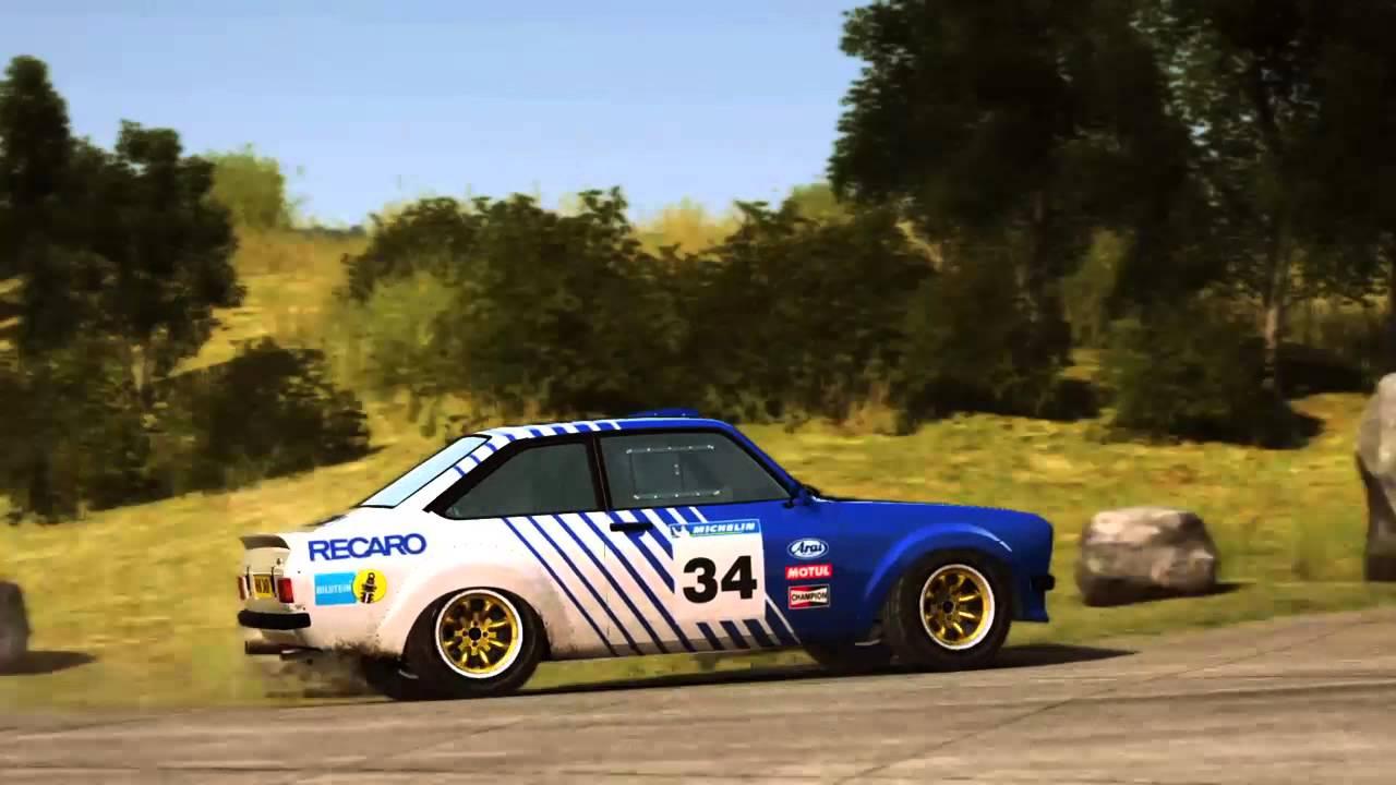 DiRT Rally PS4 - Germany - Waldaufstieg - Ford Escort Mk2 - YouTube
