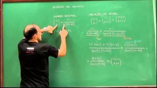 Indução Matemática - Aula 5 - Binômio de Newton
