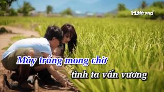 [Karaoke HD] NẮNG HỒNG NGÀY XƯA - Minh Thuận