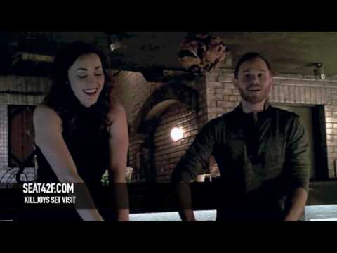 Sarah Power Aaron Ashmore Killjoys Set Visit Interview