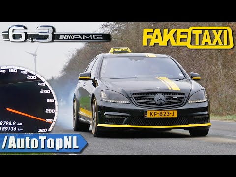 S63 AMG *FAKE TAXI* LOUD! Straight Pipe & 100-300km/h ACCELERATION By AutoTopNL