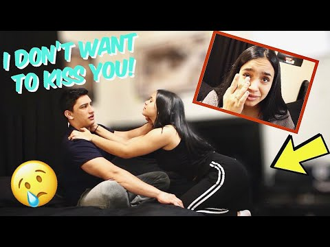 I DON'T WANT TO KISS YOU PRANK ON GIRLFRIEND! (She Cried)