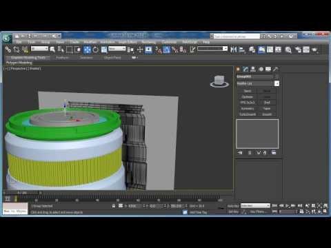 Tutorial: Model the Canon EF-S 55-250mm Zoom Lens in 3D Studio Max: Part 3