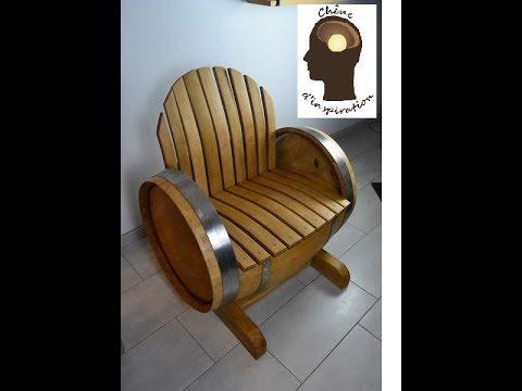 fauteuil à partir d\'un vieux tonneau
