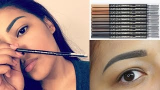 10 Eyebrow Swatches Using NEW L.A GIRL Shady Slim Brow Pencils