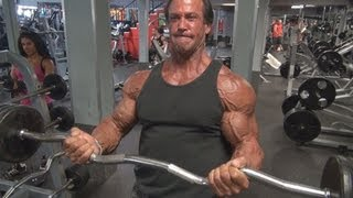 Bill McAleenan 55 Year Old Bodybuilder Bicep Workout