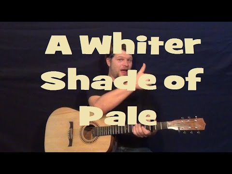 A Whiter Shade Of Pale Procol Harum Guitar Lesson How To Play