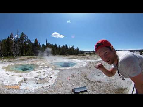 Hovering Over Spasmodic Geyser at Yellowstone in 360 VR