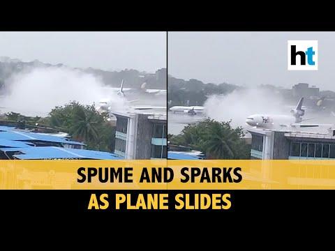 Amid cyclone, plane skids off runway in Mumbai: Watch startling video