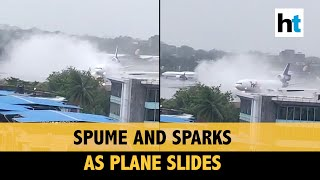 Amid cyclone, plane skids off runway in Mumbai: Watch startling video