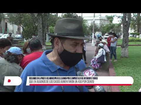 Vecinos protestaron por excesivos aumentos en los impuestos municipales