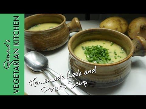 Soup Recipes Vegetarian   Simple Leek and potato soup   How to make Vegetarian Potato & Leek Soup