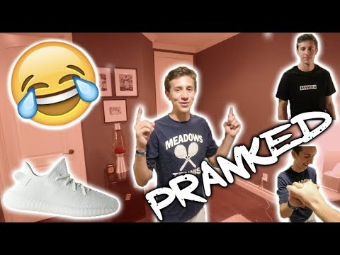 GIVING MY BEST FRIEND YEEZYS!!! **PRANK** (This went TOO FAR...)