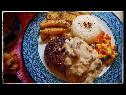how to make mushroom sauce for burger steak
