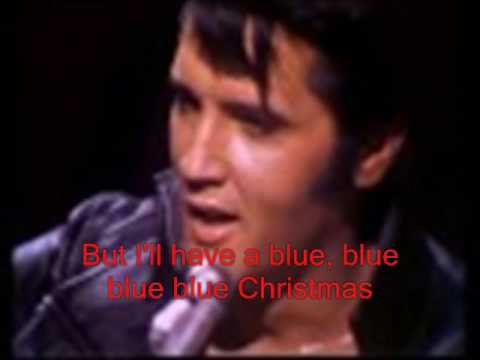 Blue Christmas With Lyrics By Elvis Presley
