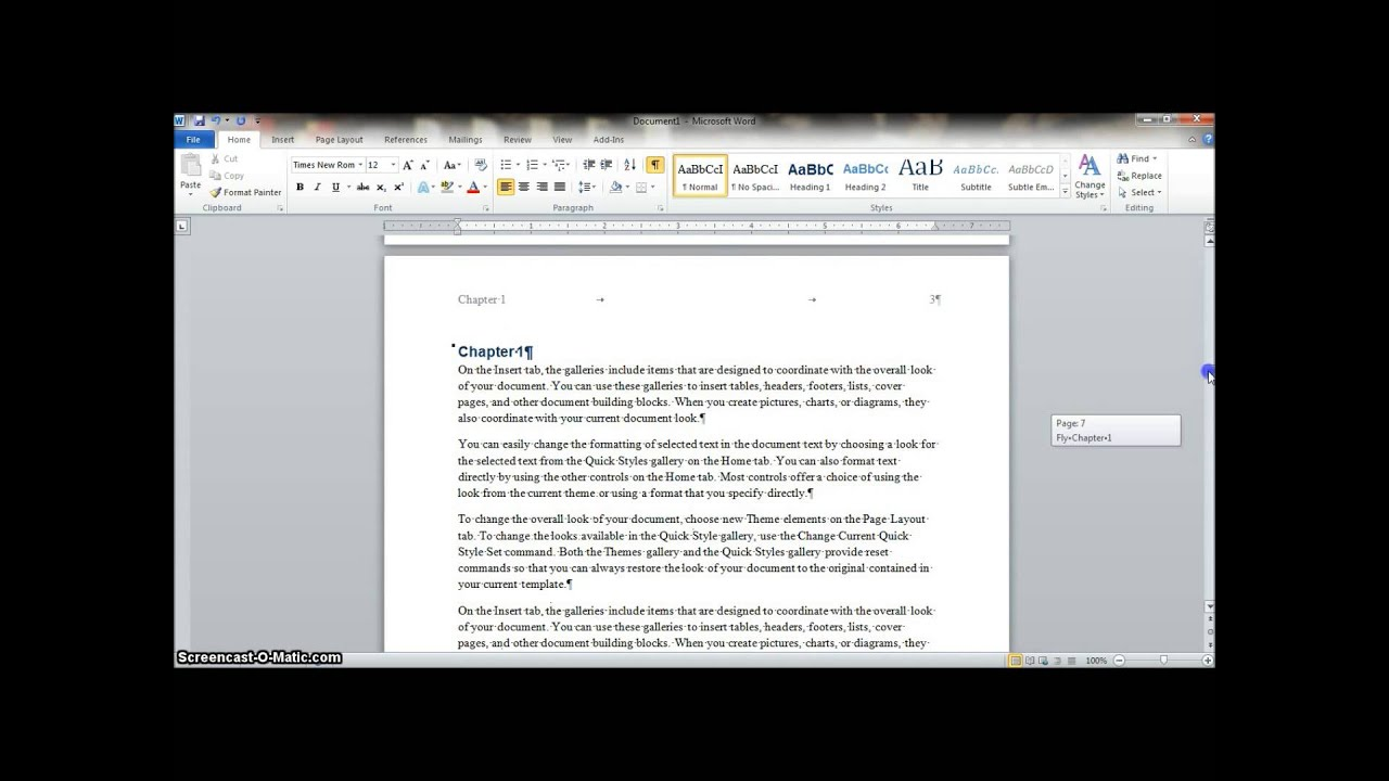 How to Make a Manual in Word 2010 YouTube – Ms Word User Manual