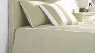 Lea 890-953 5/0 Queen Uph. Headboard W/slipcover From Seaside Dreams