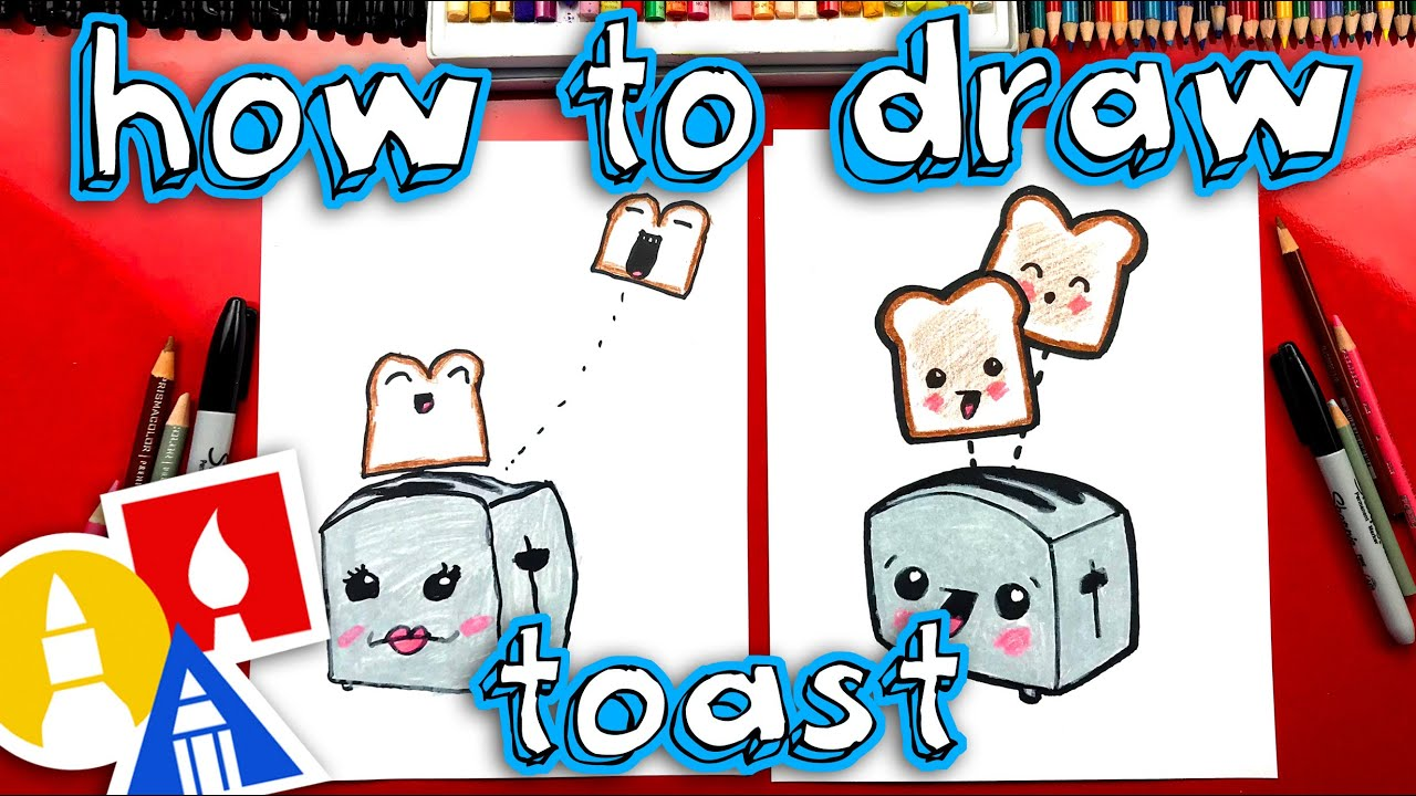 How To Draw Funny Toast And Toaster - YouTube