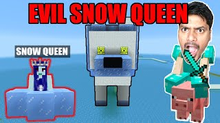 100,000 Thousand Snow Wolf's & EVIL SNOW QUEEN Attacked ME !!!!!  | minecraft hindi