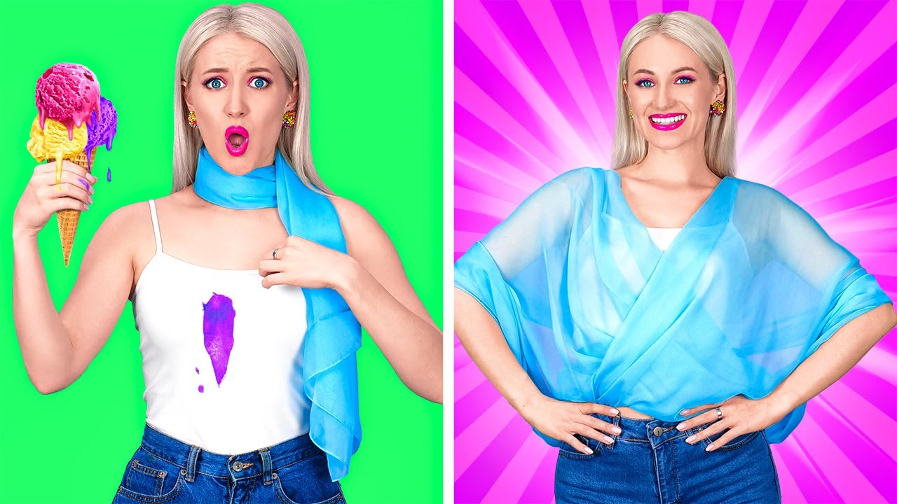 शानदार कपड़ो के हैक्स || आसान क्लॉथ हैक्स और मजेदार DIY 123 GO!