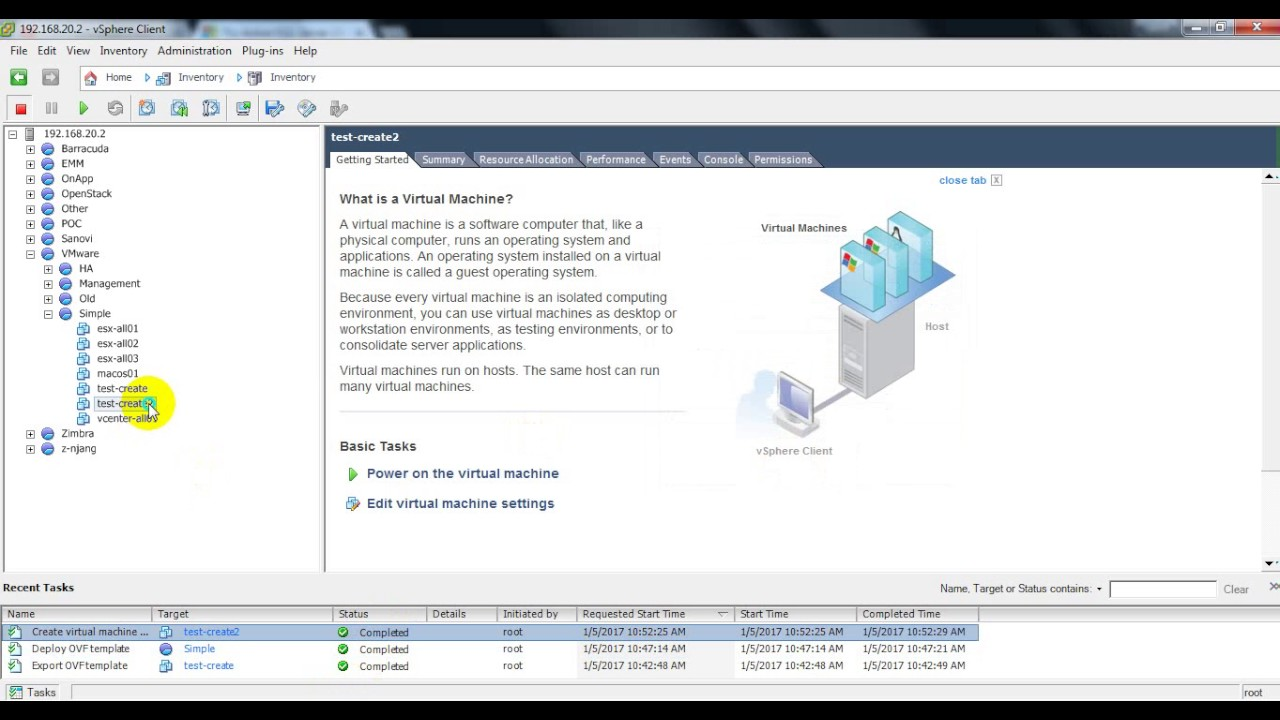 VMware ESXi - Snapshot