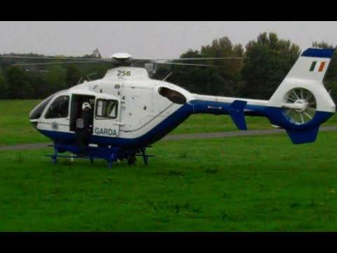 Garda Helicopter Landing At I.M.M.A.