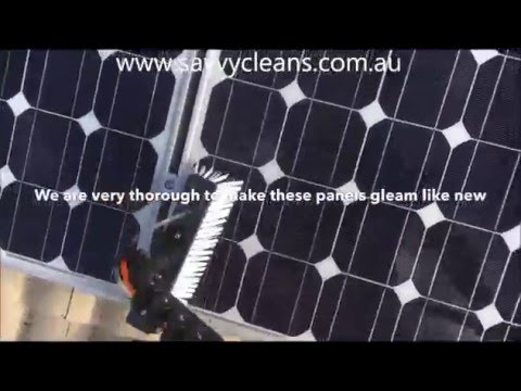Watch how to clean solar panels like a professional