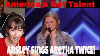 Woah! Simon Cowell Has Ansley Burns Sing Aretha Twice | America's Got Talent 2019 REACTION!