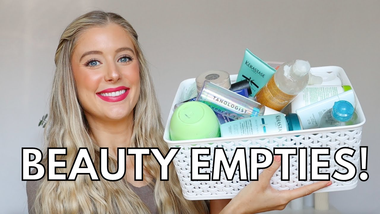 Beauty Empties 2021! Beauty Products I've Used Up: Skincare & Haircare Empties- Project Pan