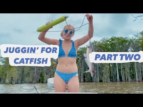 JUGGING FOR CATFISH PART TWO // lake fishing // lake verret // crawfish bait// L