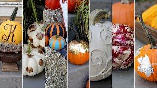 7 'No Carve' Ways to Decorate Pumpkins!