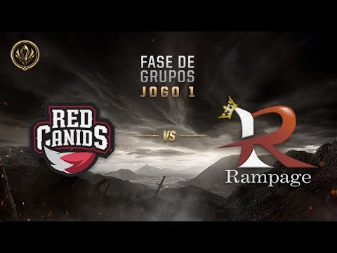 Red Canids x Rampage (Fase de Entrada - Dia 1) - MSI 2017