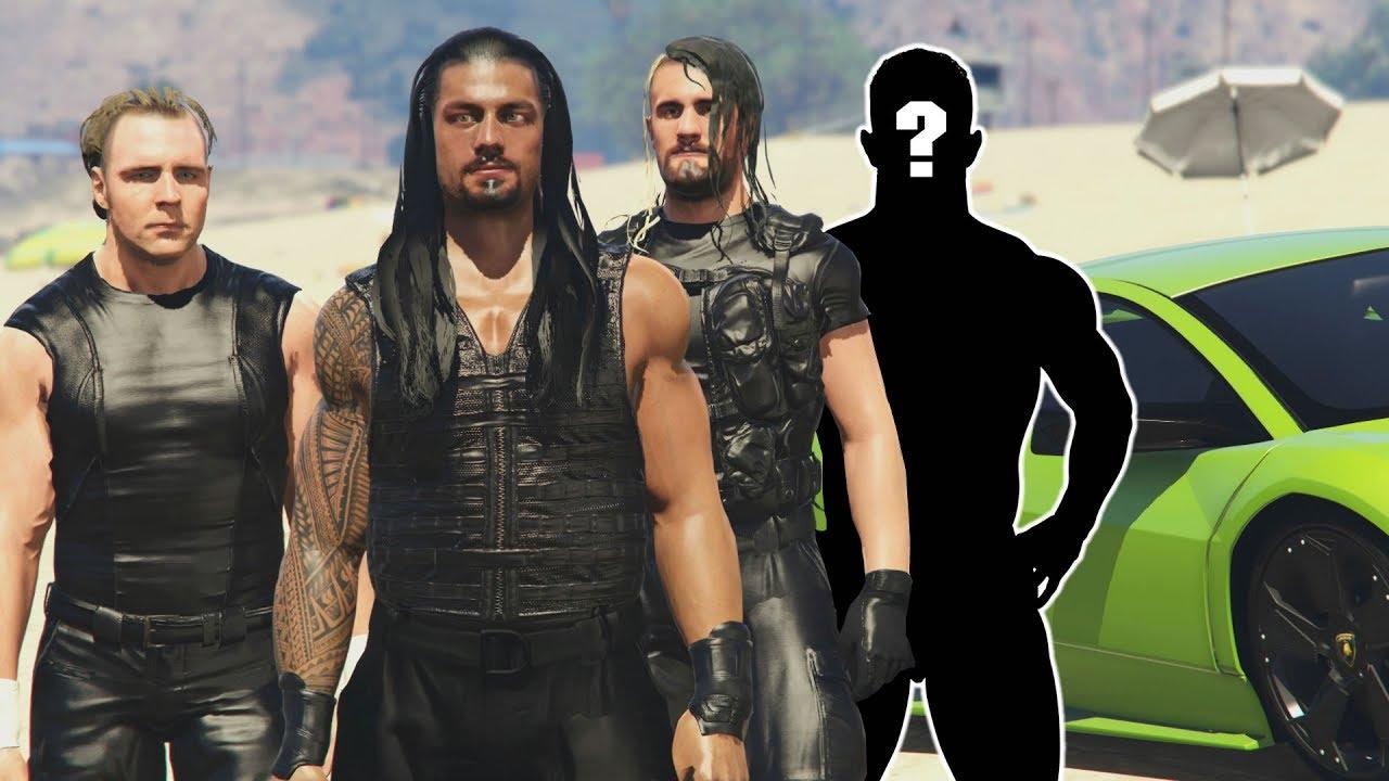 THE SHIELD RESCUE 4TH MEMBER - GTA 5 WWE MODS (Seth Rollins, Roman