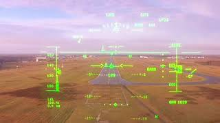 WHY WE FLY - An ILS approach seen through a HUD - Head up Display