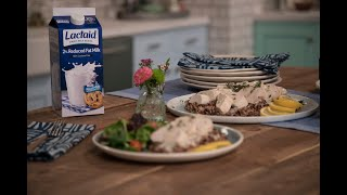 Creamy Thyme & Lemon Poached Chicken Recipe with Whitney Port | LACTAID®