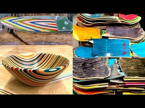 AMAZING Skateboard Recycling Woodworking Projects Ideas | Recycled Skateboard Bowl |Skateboard Knife