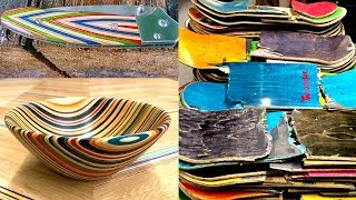 AMAZING Skateboard Recycling Woodworking Projects Ideas   Recycled Skateboard Bowl  Skateboard Knife