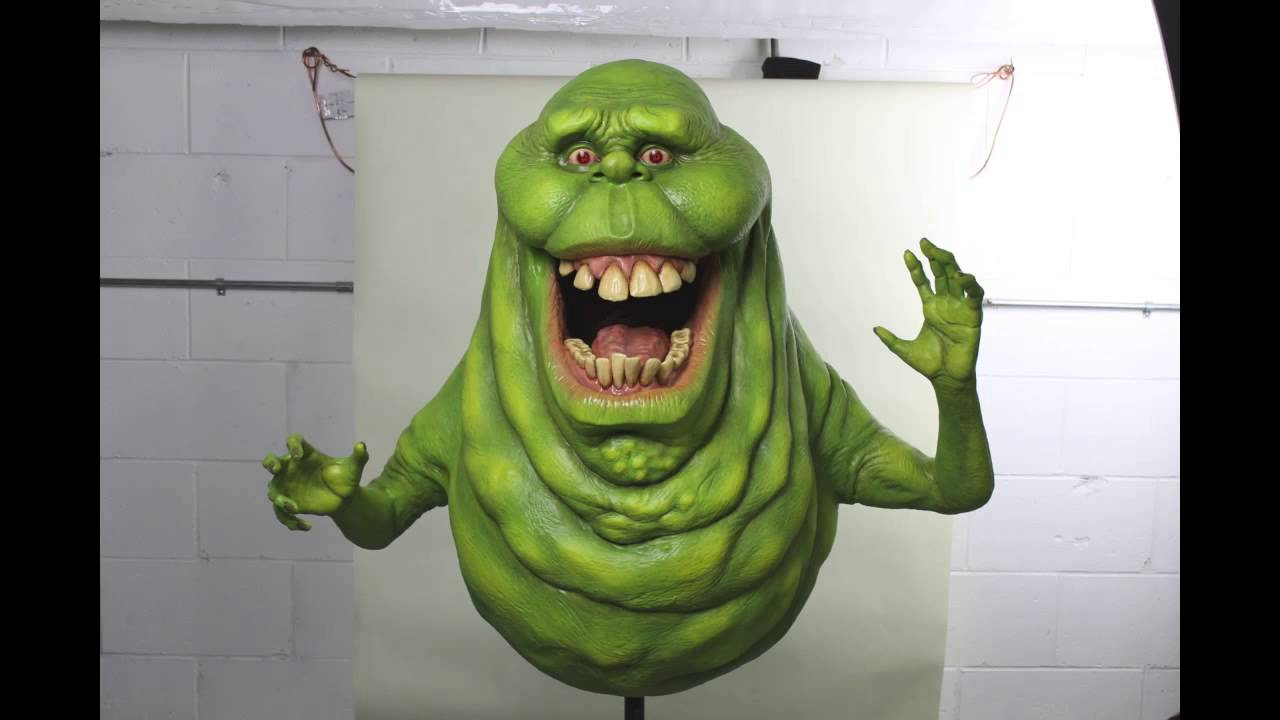 Ghostbusters Slimer Life Sized Statue - YouTube