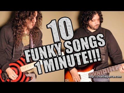 10 FUNKY SONGS IN 1 MINUTE!!!