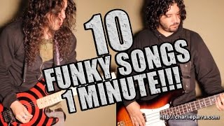 10 FUNKY SONGS IN 1 MINUTE!!!
