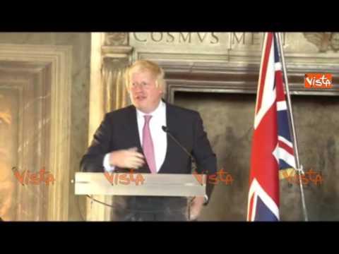 """Boris Johnson a Firenze: """"Gli italiani in Inghilterra non temano per i propri diritti"""""""