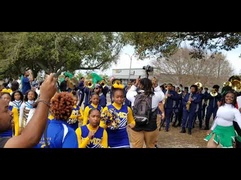 "Livingston Collegiate Academy band playing ""Ring My Bell"" (Krewe of Nefertiti parade 2020)"