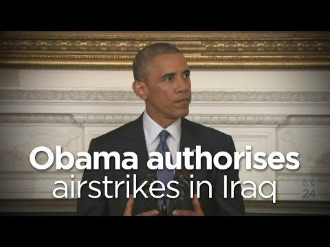 Barack Obama authorises airstrikes in Iraq