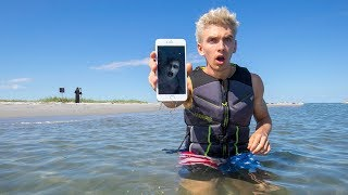EXPLORING ABANDONED ISLAND FOR LOST TREASURE!! (iPhone FOUND) thumbnail