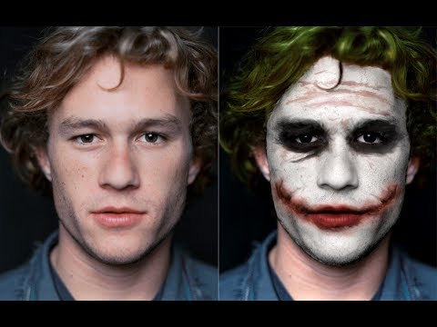 Heath Ledger To Joker Transformation With Photoshop Youtube