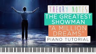 How to Play The Greatest Showman (Ziv Zaifman) - A Million Dreams | Theory Notes Piano Tutorial