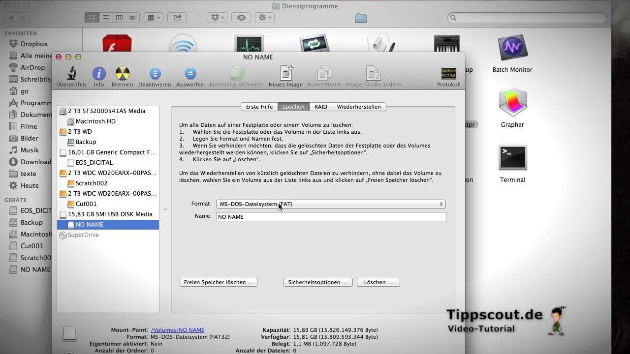 Sd Karte Formatieren Macbook.Usb Stick Auf Macintosh Formatieren