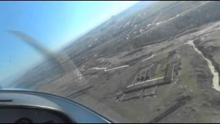 Sport Cruiser light 2 seat aircraft flight.Полет на самолетe Sport Cruiser г.Кисловодск