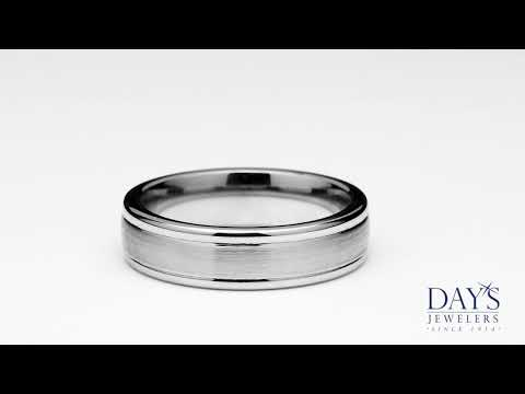 Benchmark Mens Wedding Band in Cobalt Chrome (6mm)